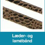 Læder- og lamébånd